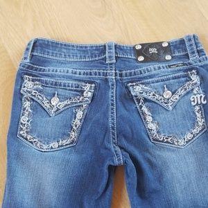 Miss Me Jeans- size 28- Boyfriend Capri